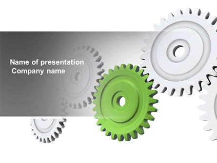 Business Concepts: Pinion Transmission With Lead Gear PowerPoint Template #04154
