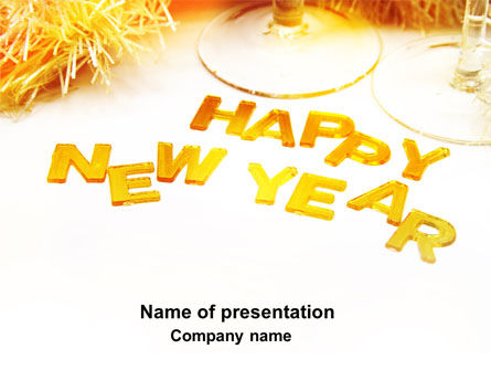 New Year Party Free PowerPoint Template, 04156, Holiday/Special Occasion — PoweredTemplate.com