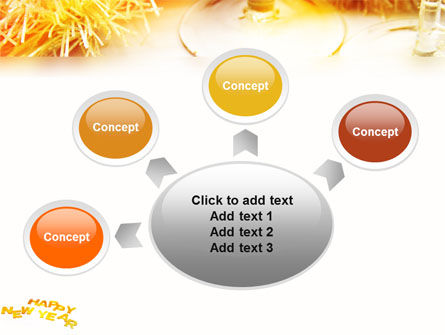 New Year Party Free PowerPoint Template Slide 7
