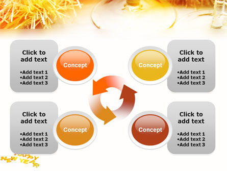 Free New Year Party PowerPoint Template Slide 9