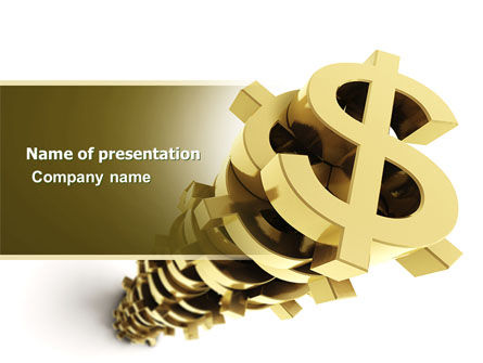 Stack Of Dollar PowerPoint Template, 04160, Financial/Accounting — PoweredTemplate.com