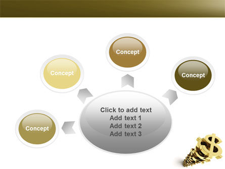 Stack Of Dollar PowerPoint Template Slide 7