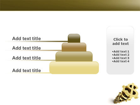 Stack Of Dollar PowerPoint Template Slide 8