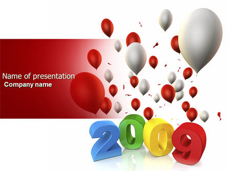 Celebrating 2009 PowerPoint Template