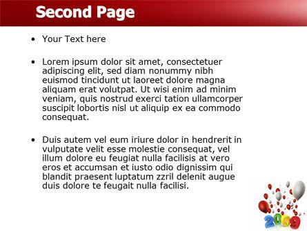 Celebrating 2009 PowerPoint Template Slide 2