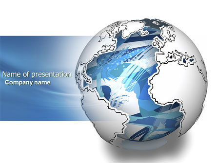 Global: World Turns PowerPoint Template #04162