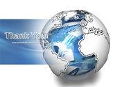 World Turns PowerPoint Template#20