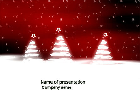 Fir Tree Theme PowerPoint Template, 04165, Holiday/Special Occasion — PoweredTemplate.com