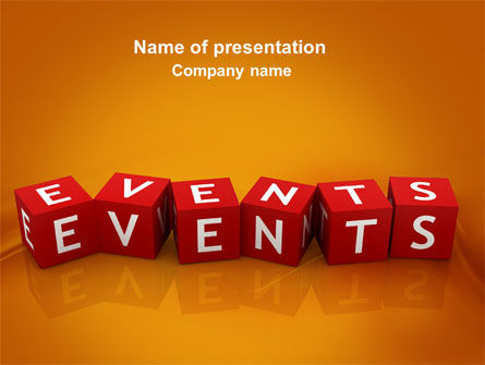Careers/Industry: Events PowerPoint Template #04166