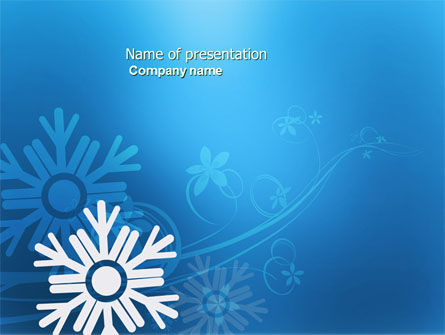 Holiday/Special Occasion: Snowflake Theme PowerPoint Template #04167