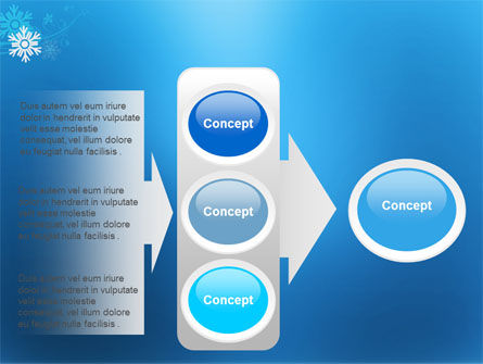 Snowflake Theme PowerPoint Template Slide 11