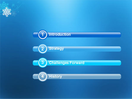 Snowflake Theme PowerPoint Template, Slide 3, 04167, Holiday/Special Occasion — PoweredTemplate.com