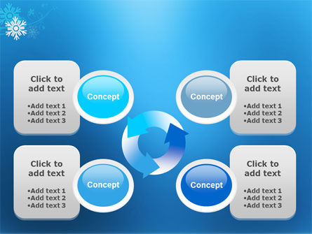 Snowflake Theme PowerPoint Template Slide 9