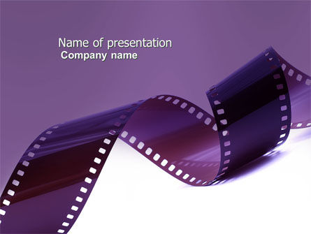 Film Strip In Purple Color PowerPoint Template