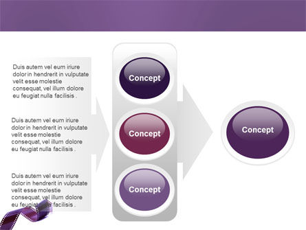 Film Strip In Purple Color PowerPoint Template Slide 11