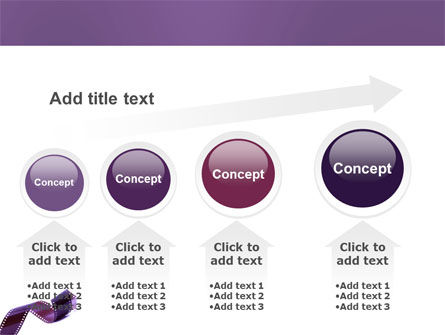 Film Strip In Purple Color PowerPoint Template Slide 13