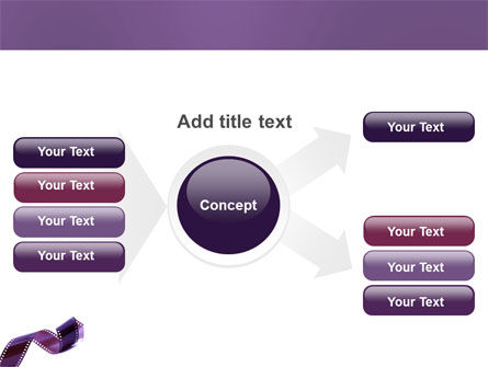 Film Strip In Purple Color PowerPoint Template Slide 14
