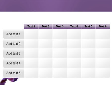 Film Strip In Purple Color PowerPoint Template Slide 15