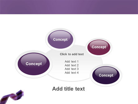 Film Strip In Purple Color PowerPoint Template Slide 16