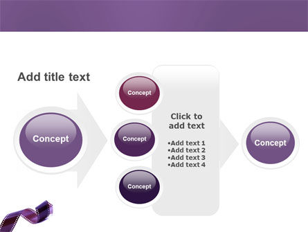 Film Strip In Purple Color PowerPoint Template Slide 17
