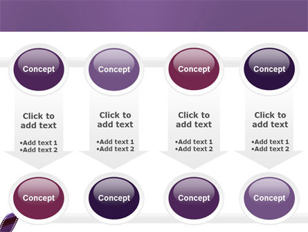 Film Strip In Purple Color PowerPoint Template Slide 18