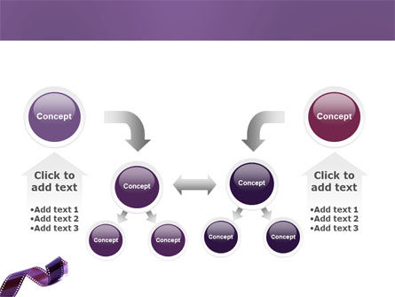 Film Strip In Purple Color PowerPoint Template Slide 19