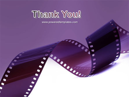 Film Strip In Purple Color PowerPoint Template Slide 20
