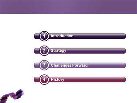 Film Strip In Purple Color PowerPoint Template, Slide 3, 04168, Careers/Industry — PoweredTemplate.com