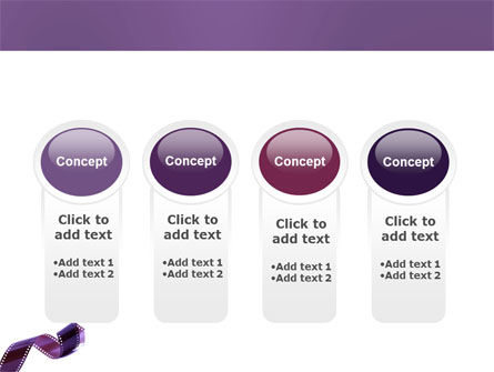 Film Strip In Purple Color PowerPoint Template Slide 5