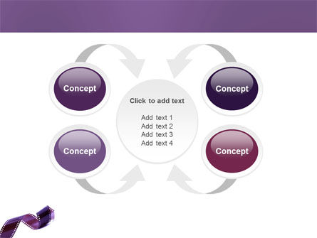 Film Strip In Purple Color PowerPoint Template Slide 6