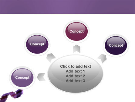 Film Strip In Purple Color PowerPoint Template Slide 7