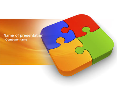 Business Concepts: Jigsaw Pieces PowerPoint Template #04170