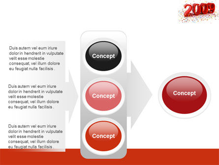 2009 Yr In Red PowerPoint Template Slide 11