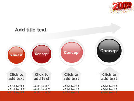 2009 Yr In Red PowerPoint Template Slide 13