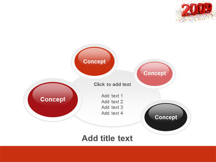 2009 Yr In Red PowerPoint Template Slide 16