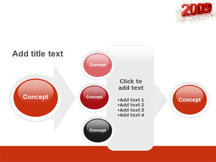 2009 Yr In Red PowerPoint Template Slide 17