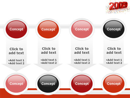 2009 Yr In Red PowerPoint Template Slide 18