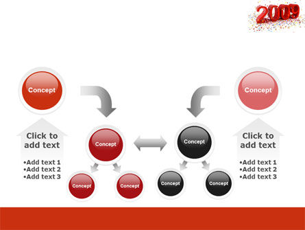 2009 Yr In Red PowerPoint Template Slide 19