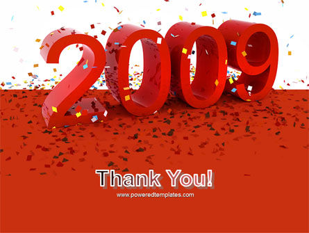 2009 Yr In Red PowerPoint Template Slide 20