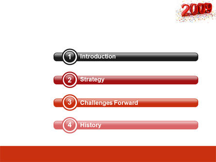 2009 Yr In Red PowerPoint Template Slide 3