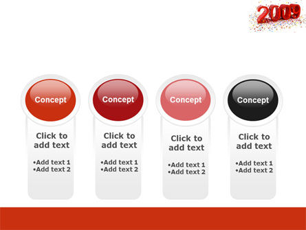 2009 Yr In Red PowerPoint Template Slide 5