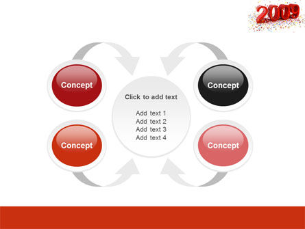2009 Yr In Red PowerPoint Template Slide 6