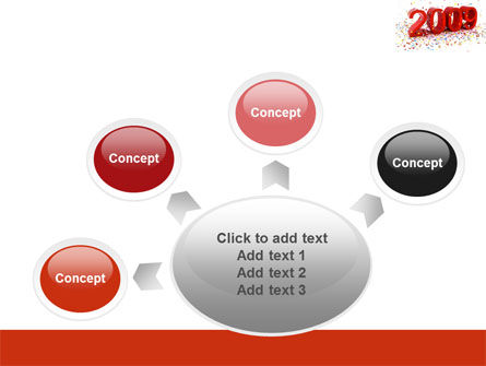 2009 Yr In Red PowerPoint Template Slide 7