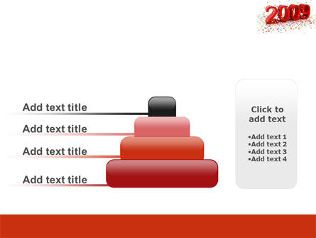 2009 Yr In Red PowerPoint Template Slide 8