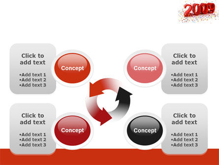 2009 Yr In Red PowerPoint Template Slide 9