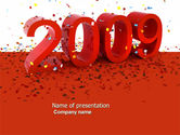 Holiday/Special Occasion: 2009 Yr In Red PowerPoint Template #04172