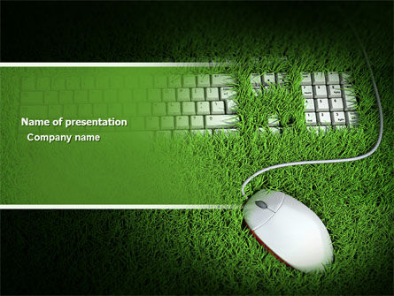 Computers: Green Technology PowerPoint Template #04173
