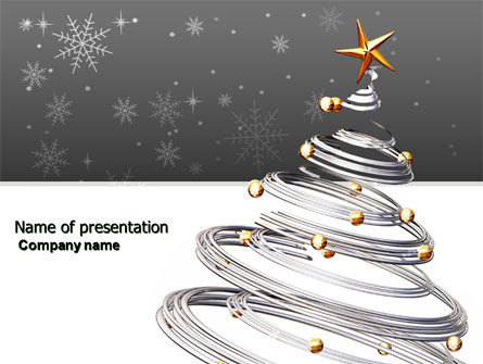 New Year Tree PowerPoint Template