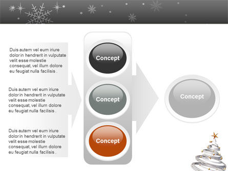 New Year Tree PowerPoint Template Slide 11