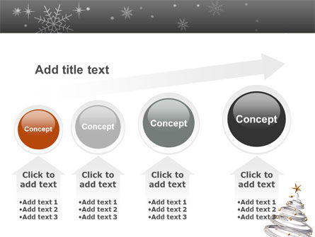 New Year Tree PowerPoint Template Slide 13